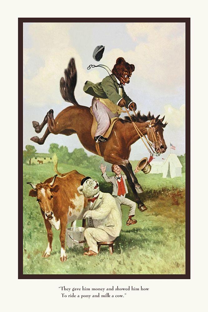 konfigurieren des Kunstdrucks in Wunschgröße Teddy Roosevelts Bears: Teddy B and Teddy G on the Farm von Culver, R.K.