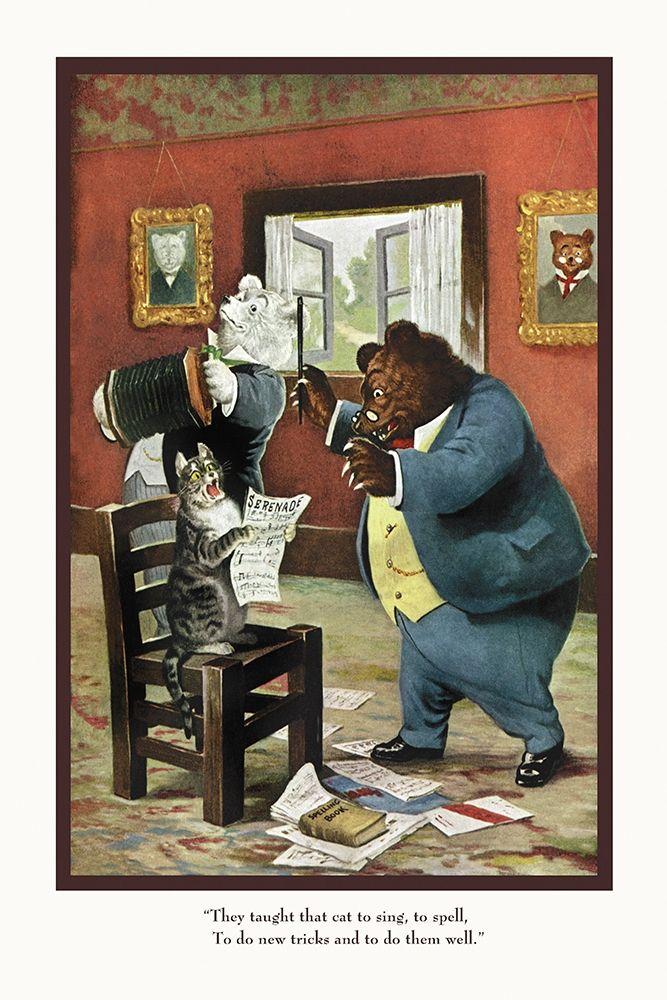konfigurieren des Kunstdrucks in Wunschgröße Teddy Roosevelts Bears: That Cat von Culver, R.K.