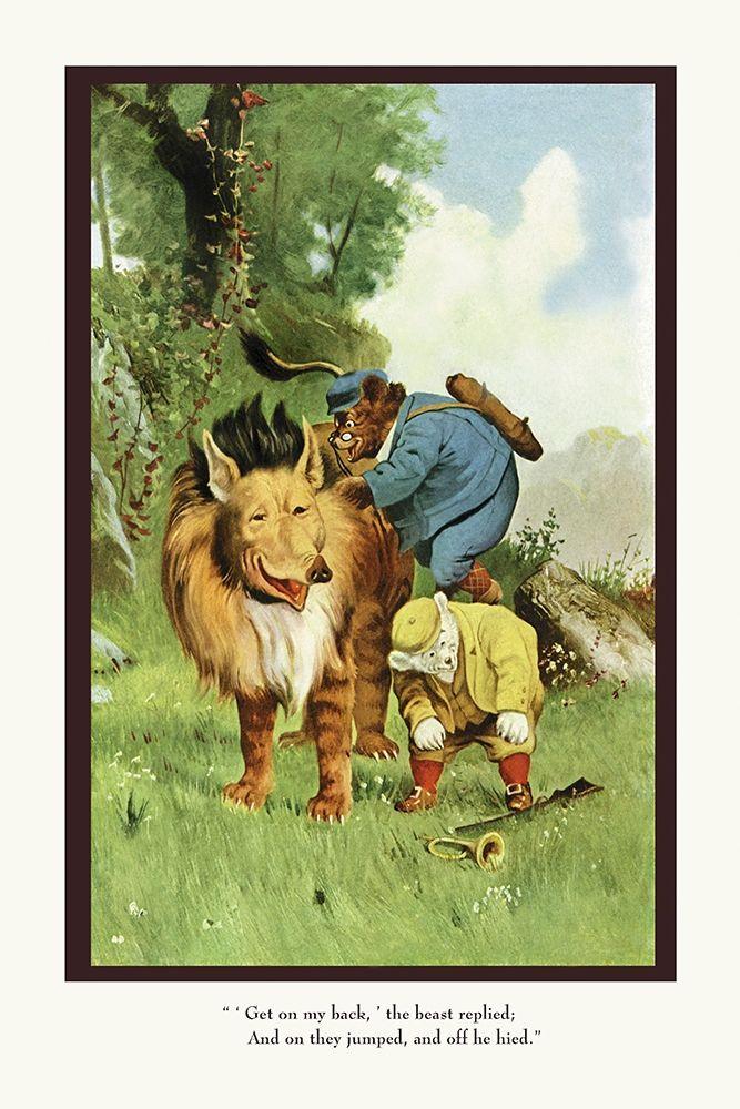 konfigurieren des Kunstdrucks in Wunschgröße Teddy Roosevelts Bears: Get On My Back von Culver, R.K.