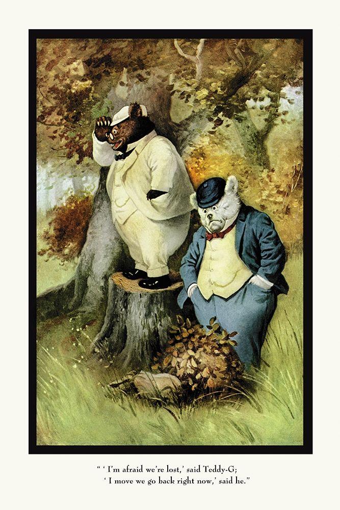 konfigurieren des Kunstdrucks in Wunschgröße Teddy Roosevelts Bears: Teddy B and Teddy G Are Lost von Culver, R.K.