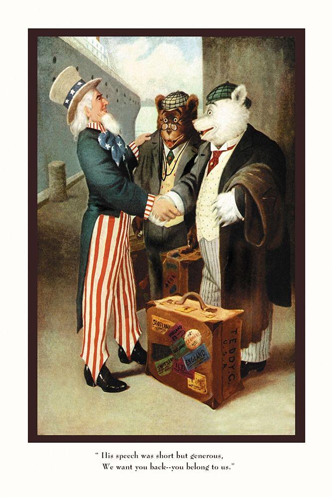 konfigurieren des Kunstdrucks in Wunschgröße Teddy Roosevelts Bears: You Belong to Us von Culver, R.K.