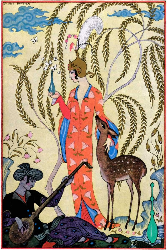 Persia von Barbier, Georges <br> max. 61 x 91cm <br> Preis: ab 10€
