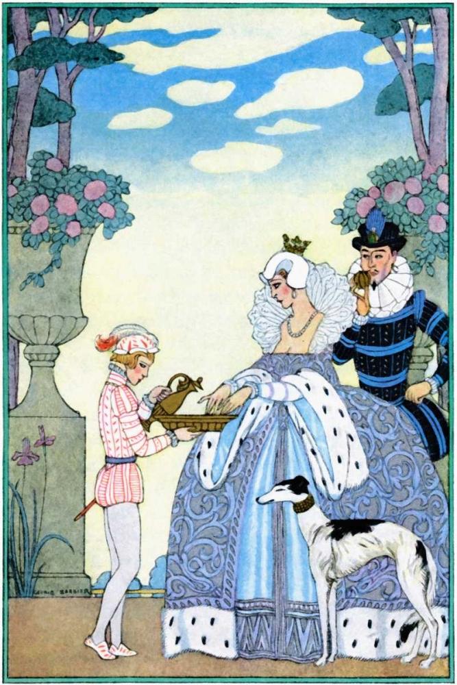 Elizabethan England von Barbier, Georges <br> max. 61 x 91cm <br> Preis: ab 10€