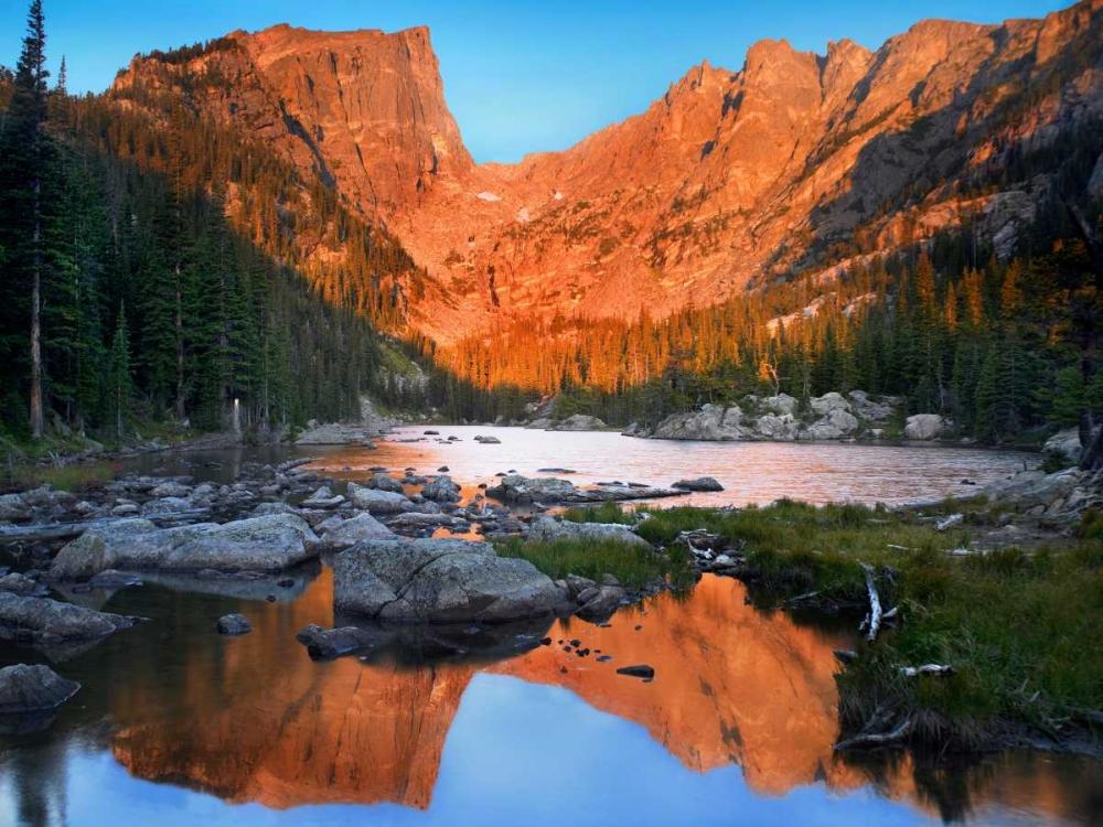 konfigurieren des Kunstdrucks in Wunschgröße Dream Lake, Rocky Mountain National Park, Colorado von Fitzharris, Tim