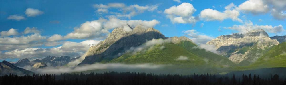 konfigurieren des Kunstdrucks in Wunschgröße Panoramic view of Mt Kidd, Kananaskis Country, Alberta, Canada von Fitzharris, Tim