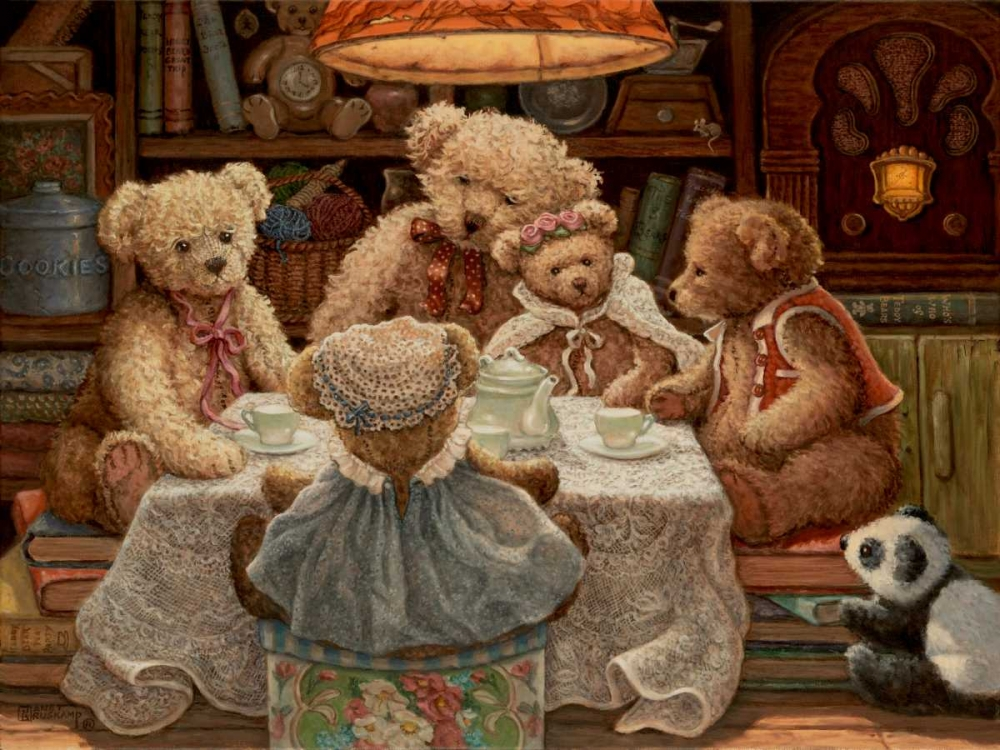 konfigurieren des Kunstdrucks in Wunschgröße Teddy Bear Tea Party von Kruskamp, Janet