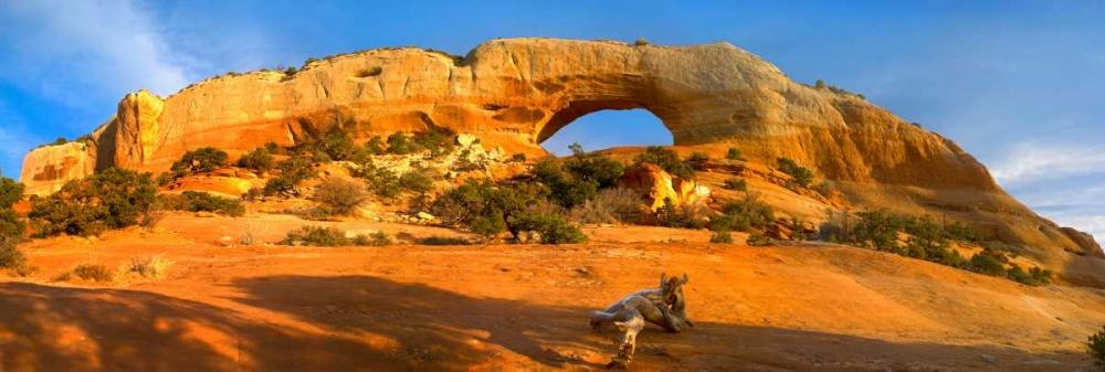 konfigurieren des Kunstdrucks in Wunschgröße Wilson Arch with a span of 91 feet and height of 46 feet, made of entrada sandstone, Utah von Fitzharris, Tim