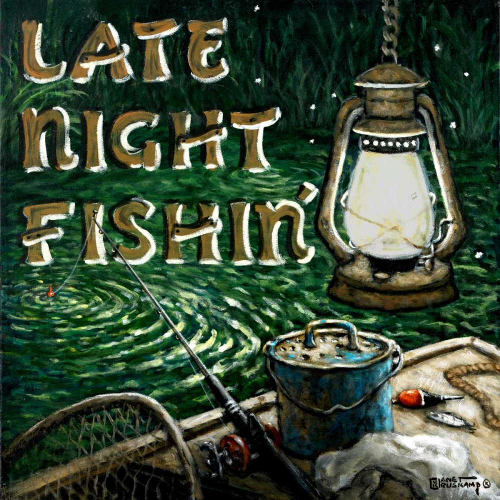 Late Night Fishing von Kruskamp, Janet <br> max. 135 x 135cm <br> Preis: ab 10€