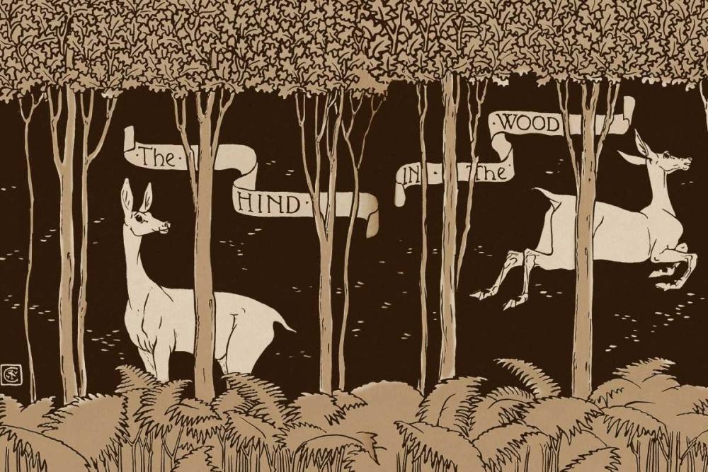 konfigurieren des Kunstdrucks in Wunschgröße Hind in the Wood Title Page von Crane, Walter