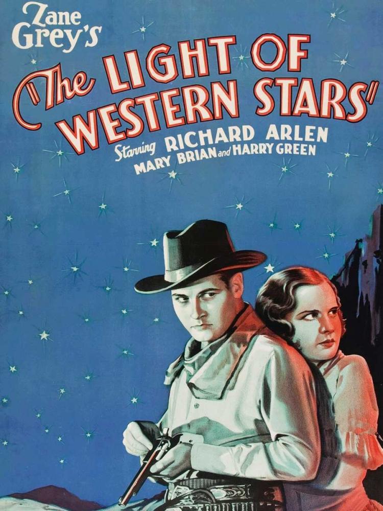 konfigurieren des Kunstdrucks in Wunschgröße Vintage Westerns: Light of the Western Stars von Unknown