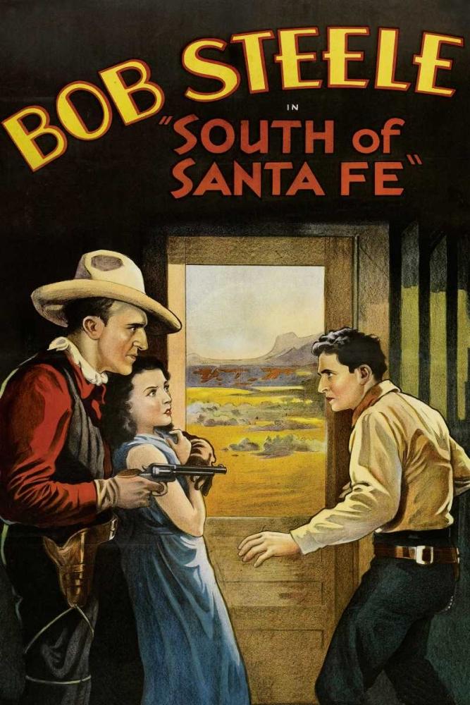konfigurieren des Kunstdrucks in Wunschgröße Vintage Westerns: South of Santa Fe von Unknown
