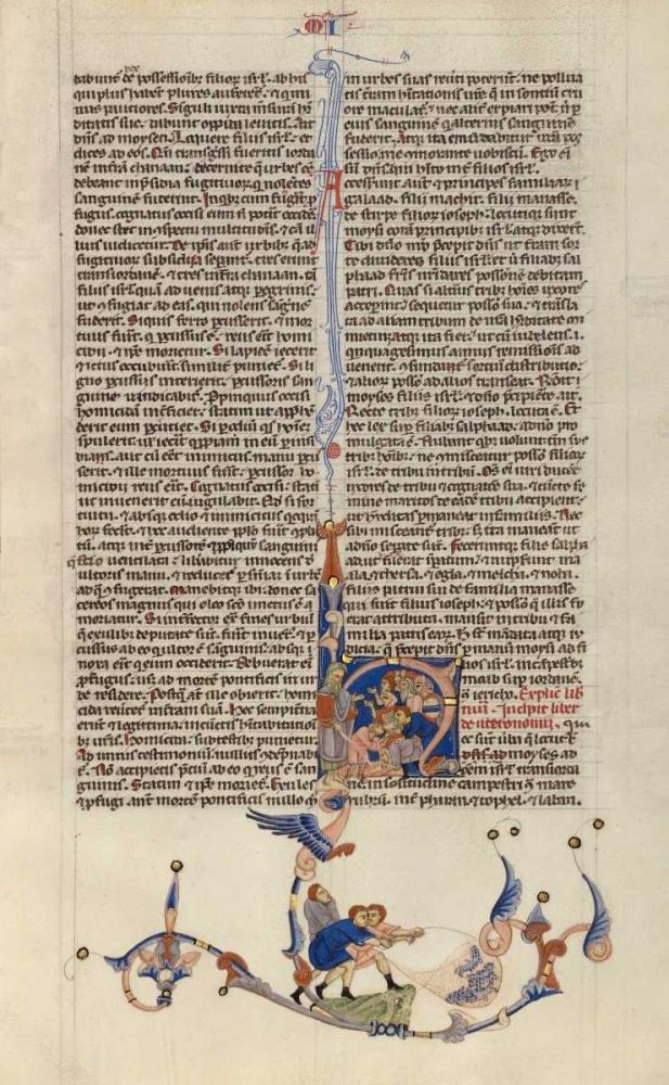 konfigurieren des Kunstdrucks in Wunschgröße Page from the Abbey Bible von Einzelbilder