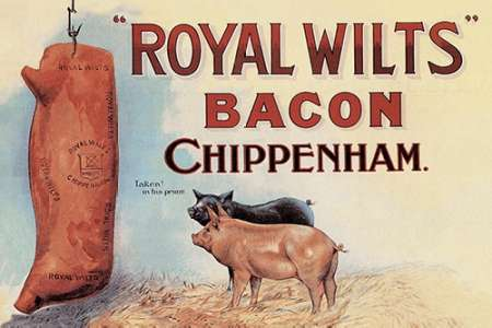 Pigs and Pork: Royal Wilts Bacon von Advertisement <br> max. 91 x 61cm <br> Preis: ab 10€