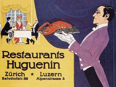 konfigurieren des Kunstdrucks in Wunschgröße Cooks: Restaurants Huguenin von Advertisement