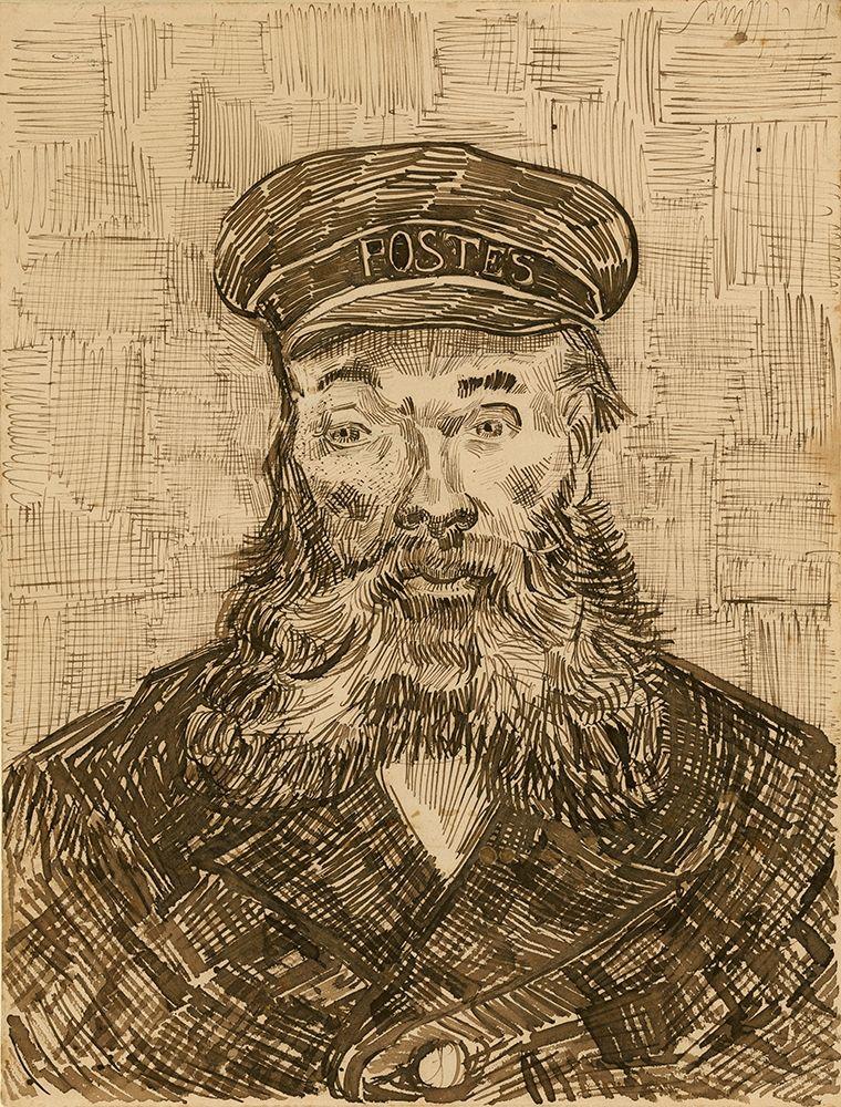 konfigurieren des Kunstdrucks in Wunschgröße Portrait of Joseph-├ëtienne Roulin von Van Gogh, Vincent