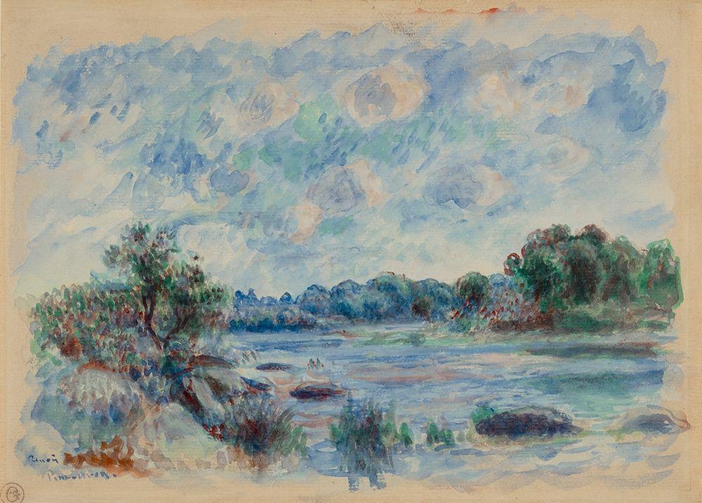 konfigurieren des Kunstdrucks in Wunschgröße Landscape at Pont-Aven von Renoir, Pierre-Auguste