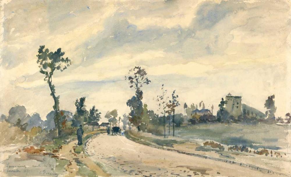 konfigurieren des Kunstdrucks in Wunschgröße Louveciennes, Route de Saint-Germain von Pissarro, Camille