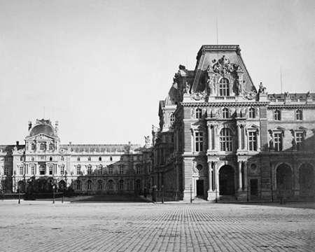 konfigurieren des Kunstdrucks in Wunschgröße Paris, 1859 - Mollien Pavilion, the Louvre von Le Gray, Gustave