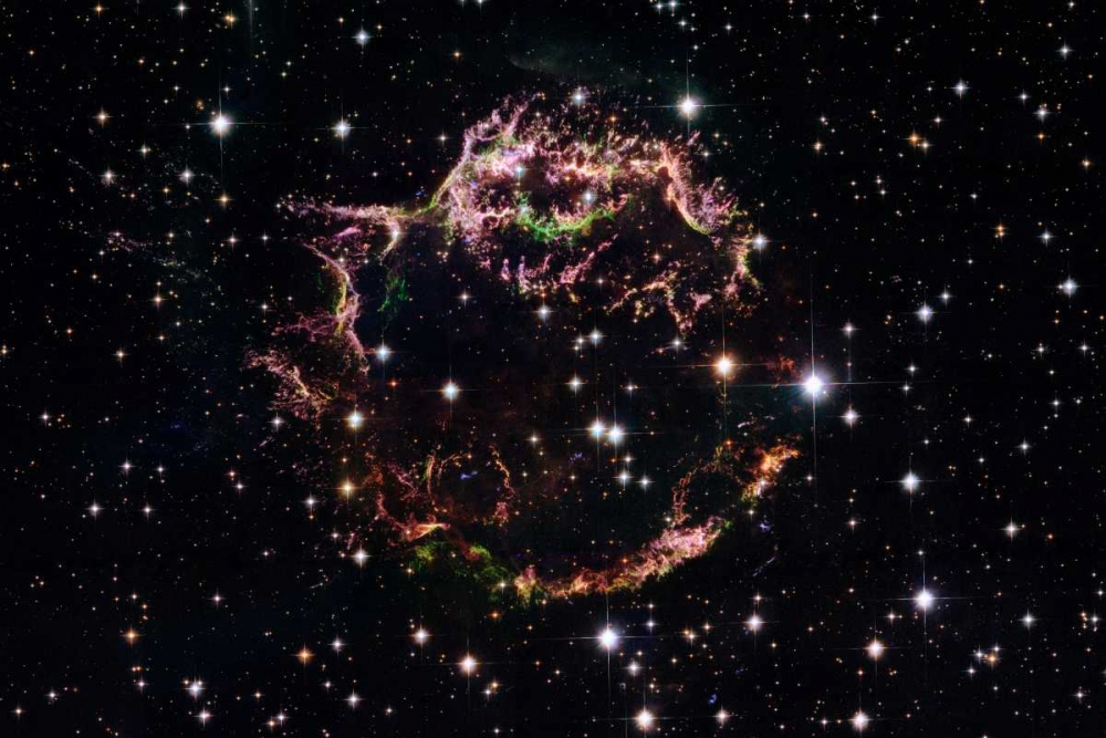 Supernova Remnant Cassiopeia A - March 2004 von NASA <br> max. 165 x 109cm <br> Preis: ab 10€