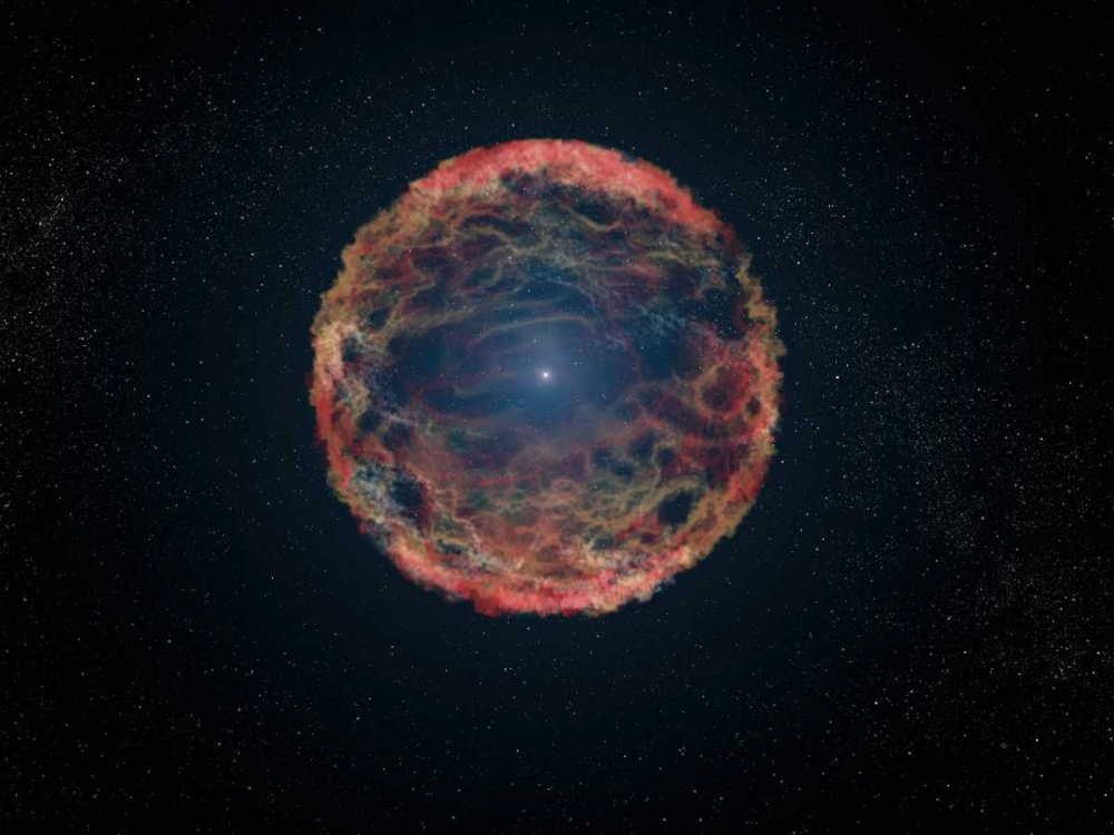 Artists Impression of Supernova 1993J von NASA <br> max. 135 x 102cm <br> Preis: ab 10€