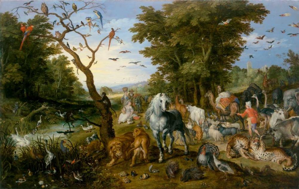 The Entry of the Animals into Noahs Ark von Jan Brueghel the Elder <br> max. 94 x 61cm <br> Preis: ab 10€