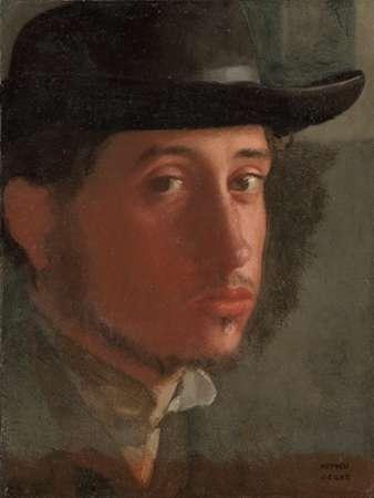konfigurieren des Kunstdrucks in Wunschgröße Self-portrait von Degas, Edgar