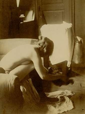 konfigurieren des Kunstdrucks in Wunschgröße Seated Nude von Degas, Edgar