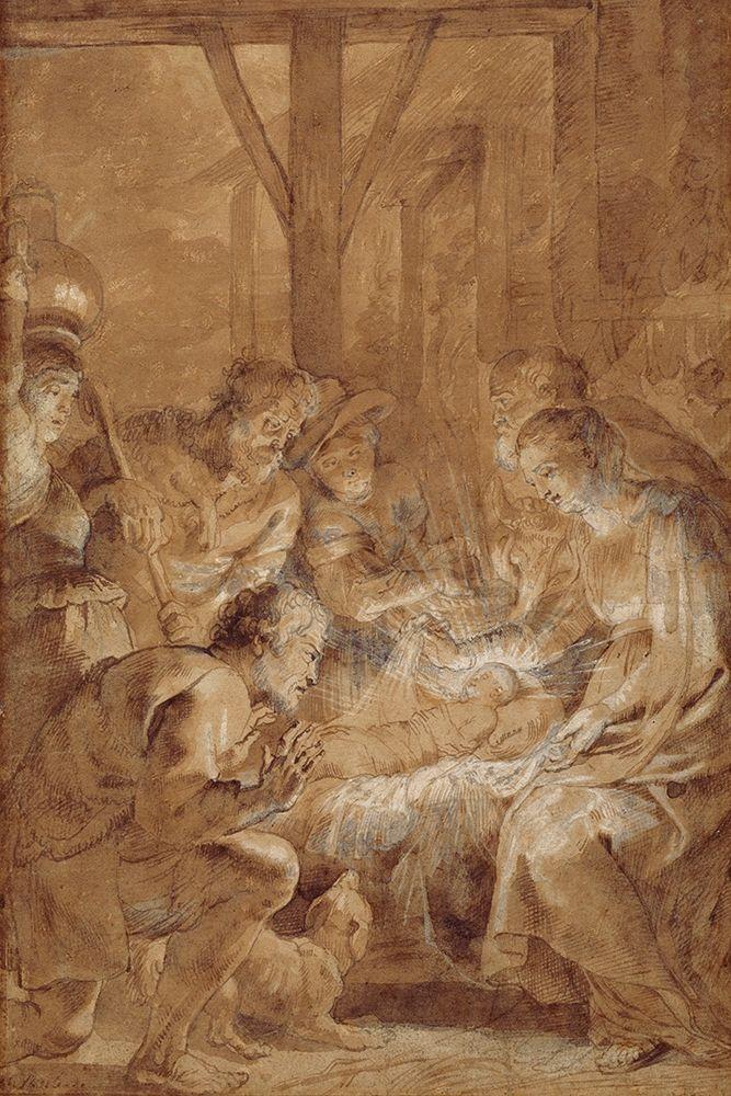 konfigurieren des Kunstdrucks in Wunschgröße The Adoration of the Shepherds von Rubens, Peter Paul