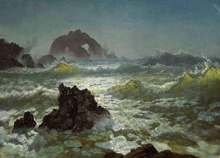 konfigurieren des Kunstdrucks in Wunschgröße Seal Rock, California von Bierstadt, Albert