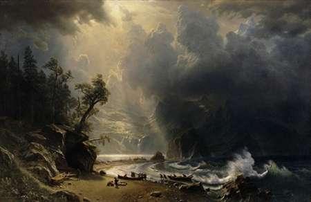 konfigurieren des Kunstdrucks in Wunschgröße Puget Sound of the Pacific Coast, 1870 von Bierstadt, Albert