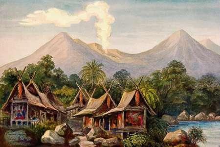 konfigurieren des Kunstdrucks in Wunschgröße Vulkan Papandajan auf Java von Haeckel, Ernst