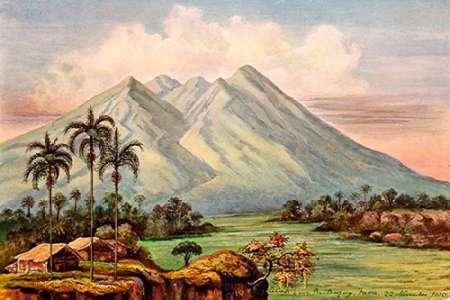 konfigurieren des Kunstdrucks in Wunschgröße Der Vulkan Salak bei Buitenzorg von Haeckel, Ernst