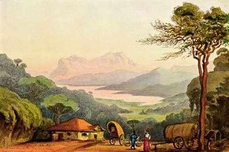 konfigurieren des Kunstdrucks in Wunschgröße Nurellia-See Vom Rambodde-Paß, Ceylon von Haeckel, Ernst