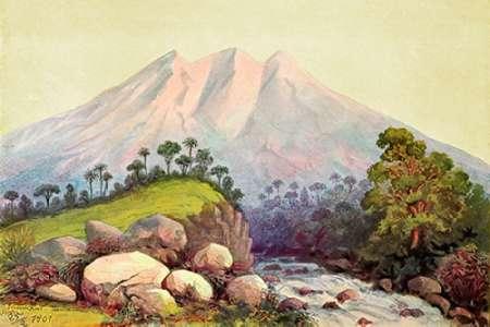 konfigurieren des Kunstdrucks in Wunschgröße Vulkan Tandikat, Westkuste von Sumatra von Haeckel, Ernst