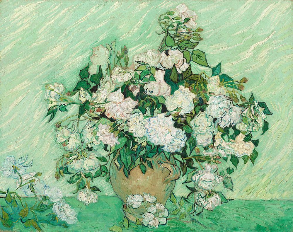konfigurieren des Kunstdrucks in Wunschgröße Roses, 1890 von Van Gogh, Vincent
