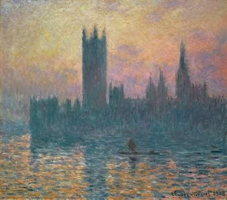 konfigurieren des Kunstdrucks in Wunschgröße The Houses of Parliament, Sunset, 1903 von Monet, Claude