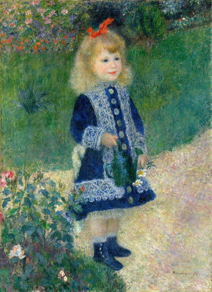 konfigurieren des Kunstdrucks in Wunschgröße A Girl with a Watering Can, 1876 von Renoir, Pierre-Auguste