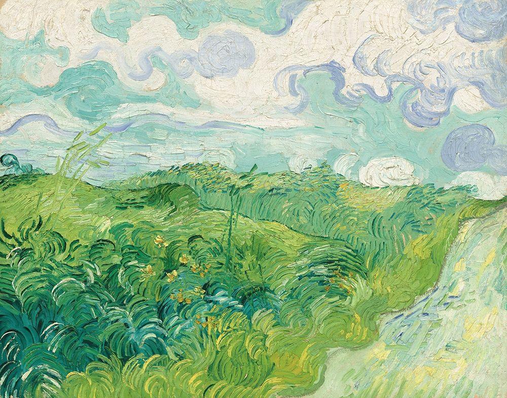konfigurieren des Kunstdrucks in Wunschgröße Green Wheat Fields, Auvers, 1890 von Van Gogh, Vincent