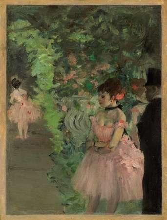 konfigurieren des Kunstdrucks in Wunschgröße Dancers Backstage, 1876/1883 von Degas, Edgar