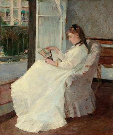 konfigurieren des Kunstdrucks in Wunschgröße The Artists Sister at a Window, 1869 von Morisot, Berthe
