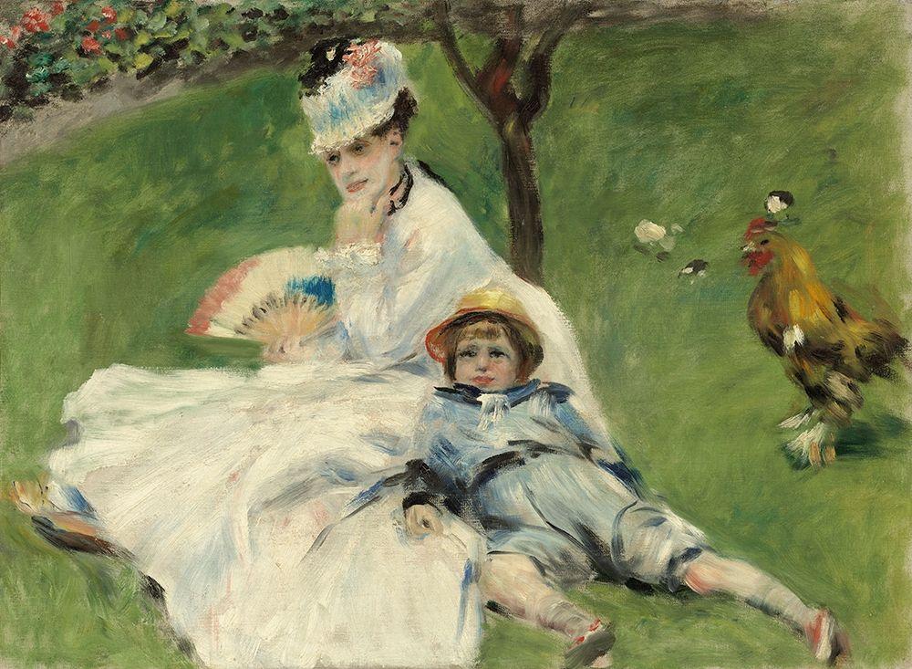 konfigurieren des Kunstdrucks in Wunschgröße Madame Monet and Her Son von Renoir, Pierre-Auguste
