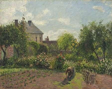 konfigurieren des Kunstdrucks in Wunschgröße The Artists Garden at Eragny, 1898 von Pissarro, Camille
