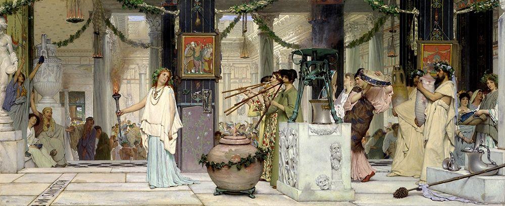 konfigurieren des Kunstdrucks in Wunschgröße The Vintage Festival, 1871 von Alma-Tadema, Sir Lawrence