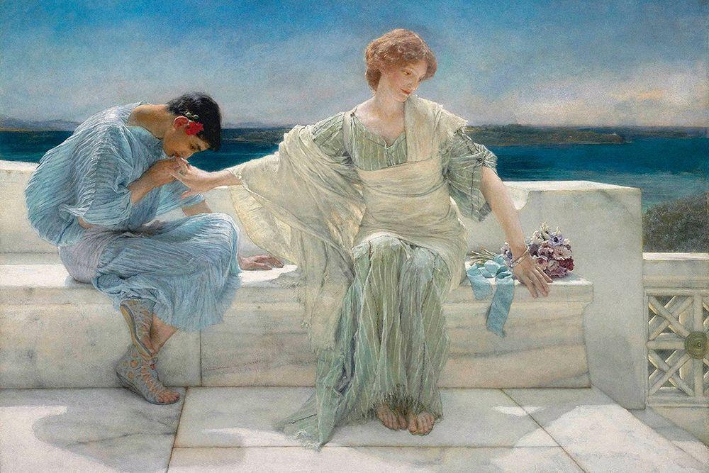 konfigurieren des Kunstdrucks in Wunschgröße Ask Me No More, 1906 von Alma-Tadema, Sir Lawrence