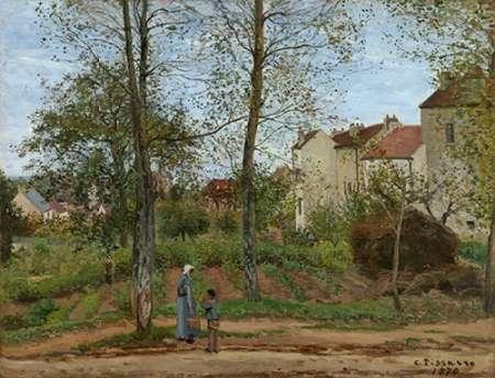 konfigurieren des Kunstdrucks in Wunschgröße Houses at Bougival (Autumn) von Pissarro, Camille