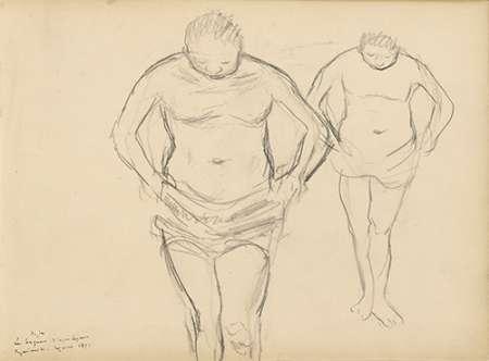 konfigurieren des Kunstdrucks in Wunschgröße Copies of Cezannes Bathers von Degas, Edgar