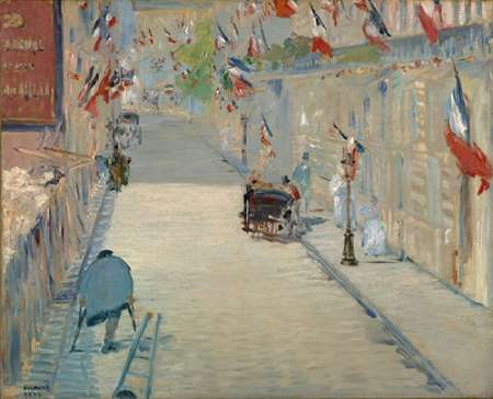 The Rue Mosnier with Flags von Manet, Edouard <br> max. 142 x 114cm <br> Preis: ab 10€