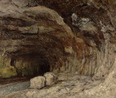 konfigurieren des Kunstdrucks in Wunschgröße Grotto of Sarrazine near Nans-sous-Sainte-Anne von Courbet, Gustave