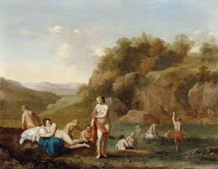 konfigurieren des Kunstdrucks in Wunschgröße Landscape with Bathing Nudes von Einzelbilder