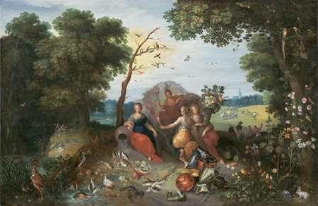 konfigurieren des Kunstdrucks in Wunschgröße Landscape with Allegories of the Four Elements von Einzelbilder